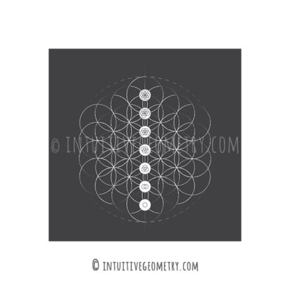 Intuitive Geometry Flower of Life image pdf and eps