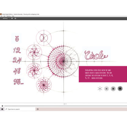 Intuitive Geometry - Drawing with overlapping circles E-Book by Nathalie Strassburg - Preview Circle Section