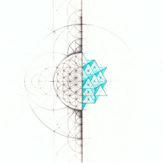 Nathalie Strassburg Original Intuitive Geometry 64 Tetrahedron Matrix Art