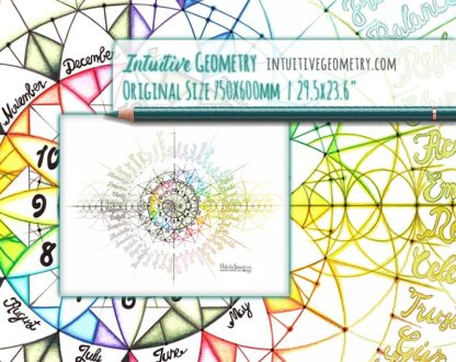 Nathalie Strassburg Original Intuitive Geometry Calendar Art