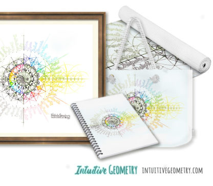 Nathalie Strassburg Original Intuitive Geometry Calendar Art Prints and Products