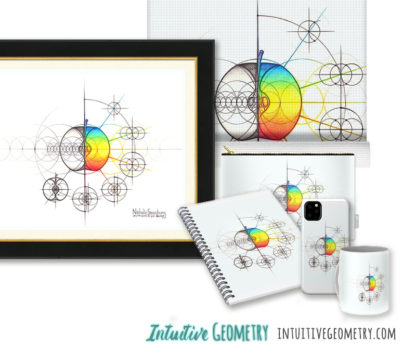 Nathalie Strassburg Original Intuitive Geometry Apple Art Prints and Products