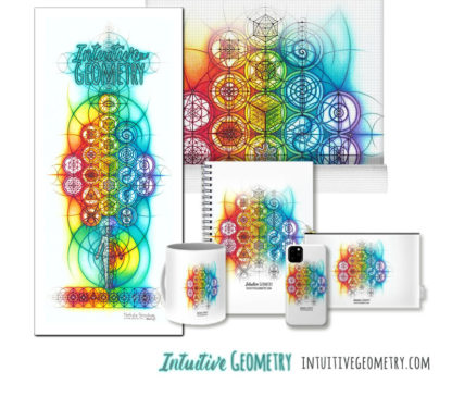 Nathalie Strassburg Original Intuitive Geometry Overlapping Circles Banner Art Prints and Products