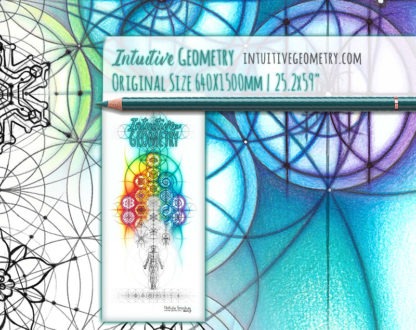 Nathalie Strassburg Original Intuitive Geometry Overlapping Circles Banner with phase Art