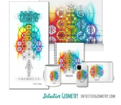 Nathalie Strassburg Original Intuitive Geometry Overlapping Circles Banner with phase Art Prints and Products