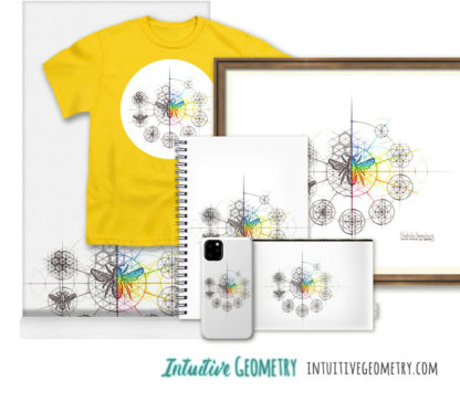 Nathalie Strassburg Original Intuitive Geometry Bee with steps Art Prints and Products