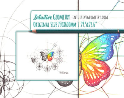 Nathalie Strassburg Original Intuitive Geometry Butterfly with steps Art