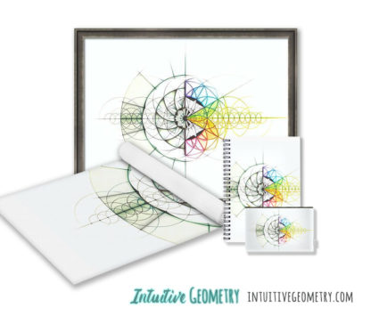Nathalie Strassburg Original Intuitive Geometry Crystallography 24 Cell Art Prints and products