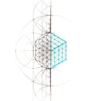 Nathalie Strassburg Original Intuitive Geometry Cube Art