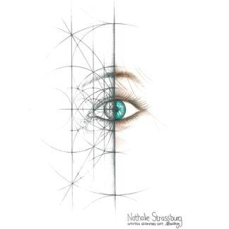 Nathalie Strassburg Original Intuitive Geometry Human Eye Art