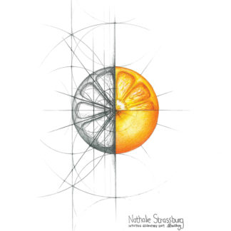 Nathalie Strassburg Original Intuitive Geometry Orange Art
