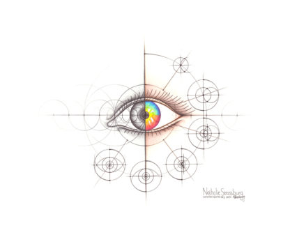 Nathalie Strassburg Original Intuitive Geometry Human Anatomy Art - Eye