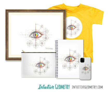 Nathalie Strassburg Original Intuitive Geometry Human Eye Art Prints and Products
