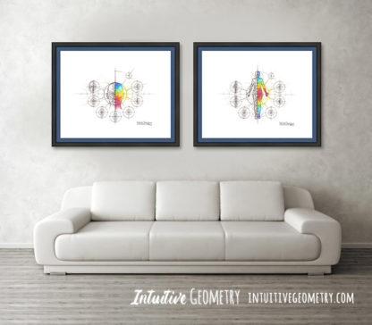 Nathalie Strassburg Original Intuitive Geometry Human Anatomy Art prints