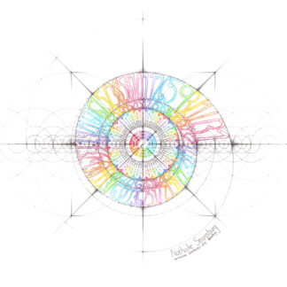 Nathalie Strassburg Original Intuitive Geometry I Ching Art