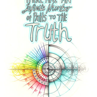 Nathalie Strassburg Original Intuitive Geometry Inspirational Art - There are an infinite number of paths to the truth