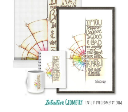 Nathalie Strassburg Original Intuitive Geometry Inspirational Art - Undivided Source - Art Prints and products