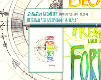 Nathalie Strassburg Original Intuitive Geometry Inspirational Art Humans grow like a forest...