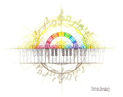 Nathalie Strassburg Original Intuitive Geometry Music Art