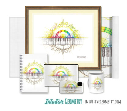 Nathalie Strassburg Original Intuitive Geometry Music Art Prints and products