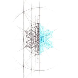 Nathalie Strassburg Original Intuitive Geometry Snowflake Art