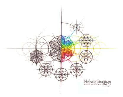 Nathalie Strassburg Original Snowflake with steps Art
