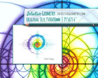 Nathalie Strassburg Original Intuitive Geometry Spectrum Spiral Art