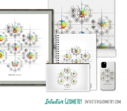 Nathalie Strassburg Intuitive Geometry 7 Examples with Steps Art Prints and Products