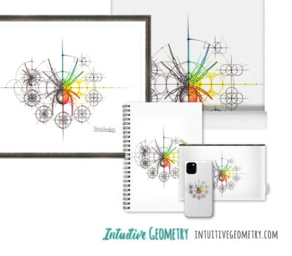 Nathalie Strassburg Original Intuitive Geometry Spider with steps Art Prints and Products