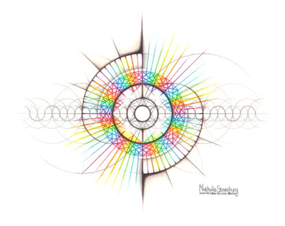 Nathalie Strassburg Original Intuitive Geometry The Intuitive Self Art