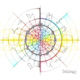 Nathalie Strassburg Original Intuitive Geometry Time Art
