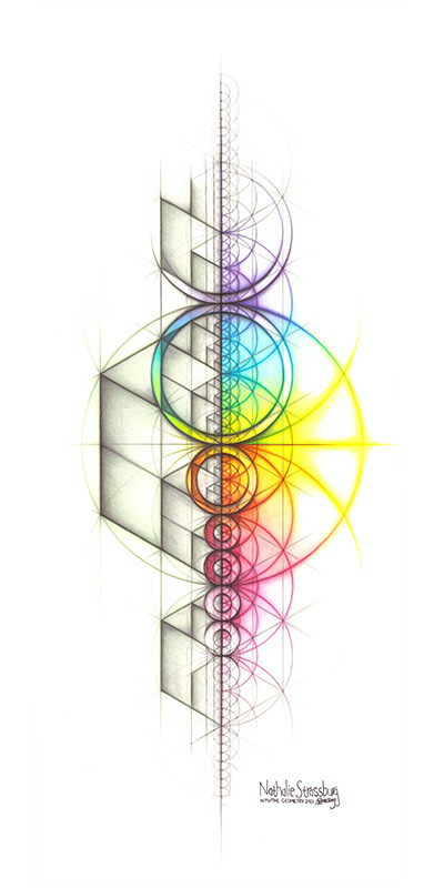 Nathalie Strassburg Intuitive Geometry Spectrum Aspire Art Original Size