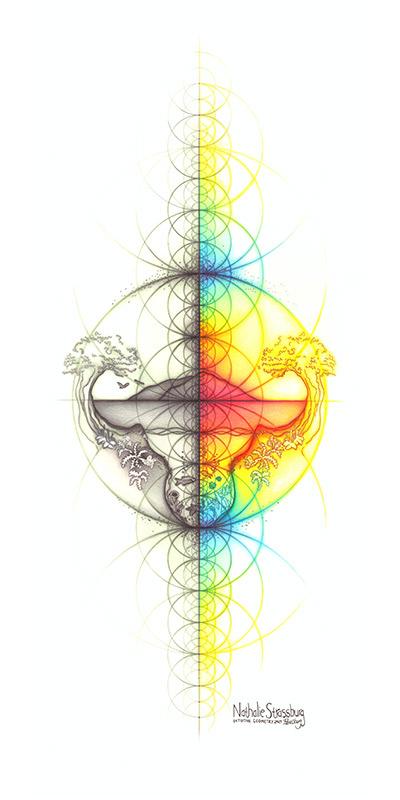 Nathalie Strassburg Intuitive Geometry Spectrum Earth Art Original Size