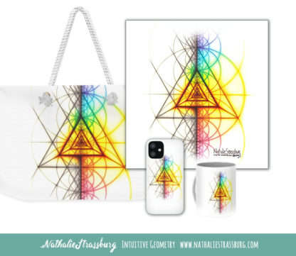 Nathalie Strassburg Intuitive Geometry Spectrum Triangle Tetrahedron Art prints and products