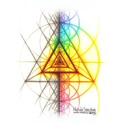 Nathalie Strassburg Intuitive Geometry Spectrum Triangle Tetrahedron Art