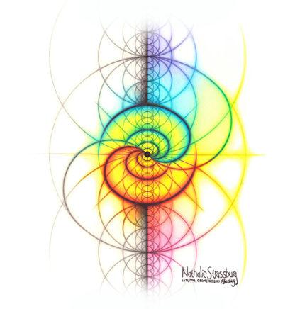Nathalie Strassburg Intuitive Geometry Spectrum Wave Yin Yang Art